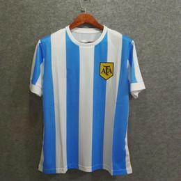 b82bdc2acee Classic argentina retro 1978 soccer jerseys custom number 9 10 Velvet font  football shirts AAA quality. Supplier  welchli