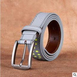 Wholesale Red Plastic Chain - 2017 new hip brand buckle l designer belts for men women genuine leather gold cinto belt Men's handbag 111