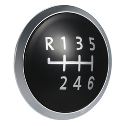 Wholesale Wholesale Speed Covers - 6 Speed Gear Knob Badge Emblem Cap Knob Cover Replacement for VW T5 Transporter 2003-2010 K4101