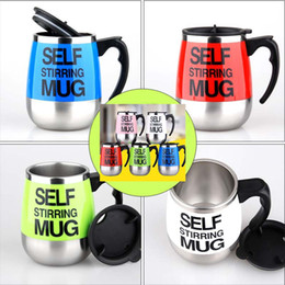 Wholesale Coffee Mixer - 2018 Self Stirring Coffee Cup Mugs Electric Coffee Automatic Electric Travel Mug Coffee Mixing Drinking Thermos Cup Mixer Free DHL WX-C41
