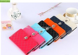 Wholesale Note2 Cases - Card Pocket Fashion PU Leather Flip Stand Phone Case with Card Slot for iPhone 7 7 Plus 6 6s plus Samsung Note2 3 4 5