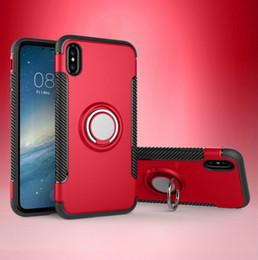 iphone ring ring Promotion Pour iPhone 8 7 samsung s7 s8 Support de voiture Case Ring Armor Hybrid Couverture arrière avec Kickstand magnétique pour iphone 8 cas