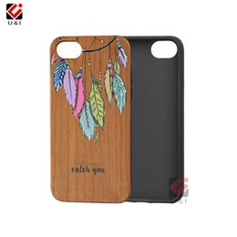 Wholesale Wood Skin Iphone Case - For iPhone 8 8plus 7plus 7 6plus 6s Luxury Wood Cell Phone Case Full Body Covera TPU Protection Back Cover Painting Coque Skin