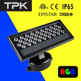 Wholesale Dmx Led Wall Washer Lights - 40W 100-240V AC RGB square outdoor waterproof DMX led wall washer flood lighting discoloration Adjustable light MEANWELL CREE ETL CE RoHS