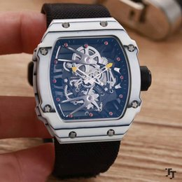 Wholesale Fiber Tags - AAA quality top brands Europe and the United States carbon fiber men's watches new RM 27-02 mineral tempered glass automatic mechanical clas