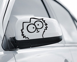 Wholesale f windows - set of two FUN DECAL SIMON'S CAT f Vinyl funny goodlooking Car Decals Stickers window phone Decal Sticker