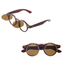 Wholesale Goth Hot - 1pcs Hot Sale Steampunk Goth Glasses Goggles Round Flip Up Sunglasses Retro Vintage Fashion Accessories Cheap accessories range