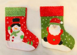 2019 decorazione dei calzini di santa Santa Clause Snow Socks Natale Calza Decor Xmas Festival Decorazioni Calze natalizie Sacchetti regalo Bomboniere all'ingrosso ELCD011 sconti decorazione dei calzini di santa