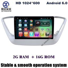 Wholesale Gps Hyundai Verna - Android 6.0 9inch car dvd player for new Hyundai Verna Solaris Accent 2016 2017 with Radio FM SWC GPS free maps