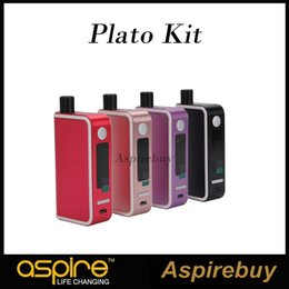 Wholesale Personal Vaporizer - New Aspire Plato 50w TC Kit 5.6ML Capacity and 50 Watt Max Output all in One Personal Vaporizer need 18650 Battery Plato 50w TC