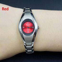 Wholesale Black Metal Strap Watches - Fashion Chaoyada elegant Women girl quartz exquisite silver Metal steel strap Bracelet wrist watch 802