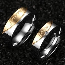 Wholesale Forever Anniversary Ring - New Arrival Luxurious titanium steel forever love Couples rings fashion ring for lovers Factory direct sale