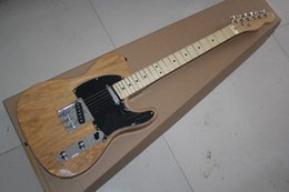 Wholesale Hollow Natural Electric Guitar - Free Shippingl Solid wood mahogany Body F Ameican standard telecaster Natural wood telecaster Electric Guitars