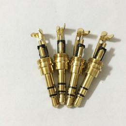 Wholesale Headphone Plug Jack Bag - 50pcs\Bag 3 poles RCA Audio Plug Connector 3.5mm Jack with Clip Connector 3.5mm Audio Plug Stereo Headset Dual Track Headphone