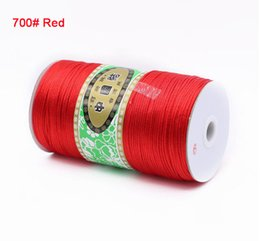 Wholesale Red Bracelet Thread - 2mm Red Nylon Cord Jewelry Findings Accessories Rattail Satin Macrame Rope Shamballa Bracelet Thread Beading String Cords 350m roll