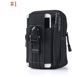 Wholesale Hockey Phone Cases - Molle Military Tactical Waist Bag Unisex Casual Tactical Belt Loops Waist Bag Outdoor Travel Sport Waist Pack Smartphone Mobile Phone Case