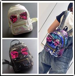 Wholesale Little Backpacks For Girls - New Fashion Sequin Kid Backpack Cute Style Kids Girl Backpacks Children's Bags Stylish Children Christmas Gift For Little Child Bag KW-BA166
