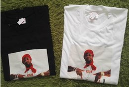 Wholesale Graffiti Box - 2018 men t shirt opening box Bonjour Madame Tee New York Rapper graffiti logo Nas characters T Shirt Men Women top cotton t shirt box logo.