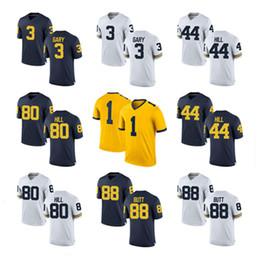 Wholesale Big Ten - Mens Michigan Wolverines Rashan Gary College Football Jerseys Delano Hill Jake Butt Khalid Hill NCAA BIG Ten Michigan Wolverines Jersey S-3X