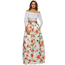 15acb7df11 2019 falda larga de paisley Señoras del otoño de la vendimia faldas midi  2017 de moda