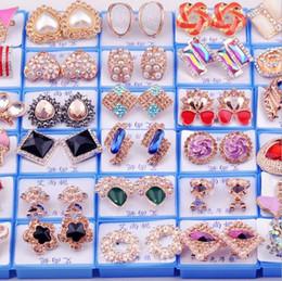 Wholesale Earring Ruby - 2016 New hot sale Women Stud Earrings Set auger Design Jewelry Stud Earrings 6
