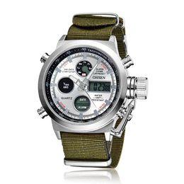Wholesale Ohsen Luxury Watch - OHSEN Luxury Military Sport Green Canvas Strap Men's Watch High Quality Man Wristwatches Relogio Masculino Relojes Hombre