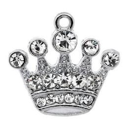 2019 boules de laiton creuses Livraison gratuite! 10 Pendentifs 21x20mm (B10355) en argent avec pendentif en forme de couronne de bijoux en gros en vente chaude