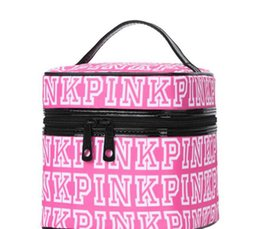 Wholesale Girls Cosmetic Bag Wholesale - Pink Cosmetic makeup Storage PINK Tote Bags akeup Bag Travel Cosmetic Bag Box Makeup Case Pouch Toiletry Organizer