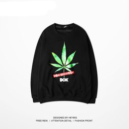 Wholesale Chinese Men S Clothes Fashion - Crewneck Sweatshirts Men Leaf element Fashion Hoodies Hippest Male Pullovers Funny Streetwear Youth Clothing Chinese Size