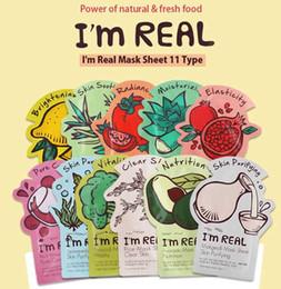 2019 корейская отбеливающая маска Tonymoly Original Korea I Real Mask Натуральные растительные маски для лица 11 стилей (произвольно отправлять) Отбеливающая увлажняющая корейская маска для лица дешево корейская отбеливающая маска