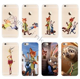 Wholesale Despicable Soft Iphone Case - Cartoon Case Fashion Despicable Zootopia Soft Clear Case Cover For Iphone 5 6 6s plus 7 Crazy Animals City Phone Case