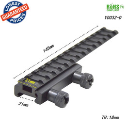 Wholesale Extended Mounts - Alonefire Scope Mount Base Flattop Riser Extended long Pour 20mm 21mm picatinny Weaver Rail - 1PC Y0032-D