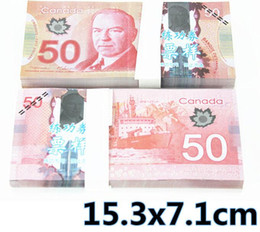 Wholesale Canada Package - Canada 50 or movie props and Education bank staff training paper fake money copy money children gift