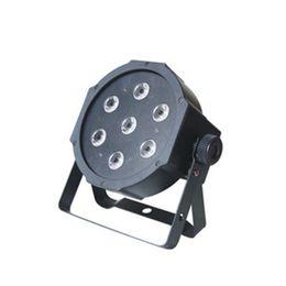 Wholesale Lamp Rgb Dmx - 7x 9W RGB DMX Stage Lights Business Lighting High Power Led Flat Par Light Stage Lamps for Party KTV Disco DJ EU plug