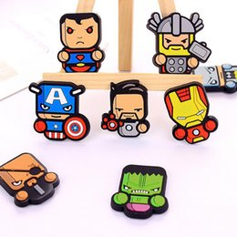 Wholesale Refrigerator Magnets Wholesale - 2016 Newest avengers alliance Fridge Magnet Cute Cartoon Fashion resin Iron man Funny Refrigerator Toy free shipping