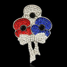 Wholesale Normal Dresses For Women - British Princess Kate Brooches for women Red Crystal Poppy Brooch pins for ladies party normal dresses New Arrival 2016 DHL free shipping