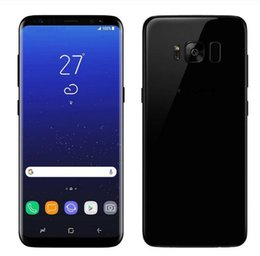 Wholesale Mobile 1g Ram - DHL Goophone S8+ S8 plus 5.5inch cell phones 1G ram 4G rom android 7.0 shown 4G LTE MTK6592 4GB RAM 64G ROM show t mobile smartphones dhl