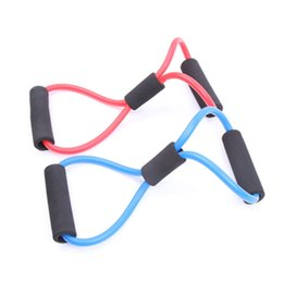 Wholesale Muscle Resistance Exercises - Wholesale-10Pcs High Quality Resistance Band 8 Type Muscle Chest Expander Rope Workout Fitness Exercise Yoga Tube Sports Pulling Exerciser