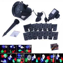 Wholesale Garden Lights Landscaping - Christmas Projector Laser Light 12 Replaceable Lens Colorful Patterns Night Light Wedding Fairy Garden Lawn Lamp Landscape
