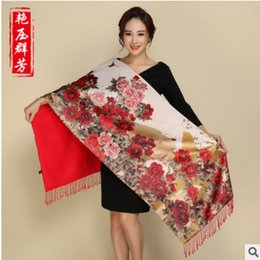 Wholesale Thick Silk Scarf - Silk pulled shawl shawls wholesale Chinese wind double mulberry silkworm silk extra thick scarf women winter shawl spot