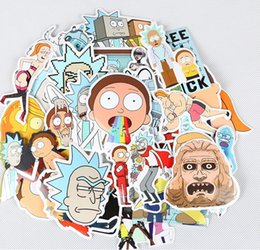 Wholesale Free Toys - 35PCS SET Rick and Morty Toy Sticker Mix Style Cartoon PVC Sticker 20Sets In Stock Free Shipping!!