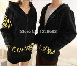Wholesale Trafalgar Law S Coat - Wholesale-JJ Hot Sale Japanese Anime Cosplay Clothes One Piece Trafalgar Law Cosplay Costume Black Trafalgar Law Hoodie Jackets Coat