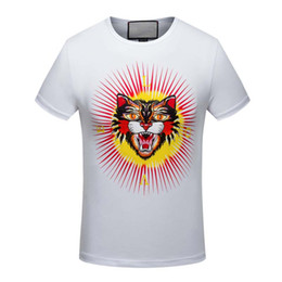Wholesale Perfect T Shirts - g autumn winter quality is very good animal printing T-Shirts, high-end designer clothing, shape is perfect Medusa T-Shirts Asian code