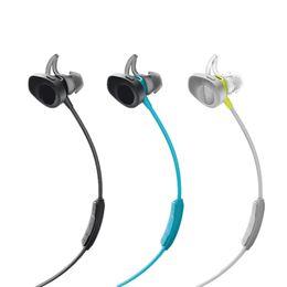 Wholesale Apple Brand Logo - Soundsport Wireless In-Ear Headphones Sport Bluetooth Earphones Outdoor Crodless Earbuds With Reail Package & Logo Black Blue Yellow