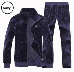 Wholesale Large Men Suits - Wholesale-New fashion 2016 Women's Casual Velvet Tracksuit Men's Sportswear Velour Sport Suit Velour Tracksuit, Large size 4XL 6