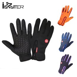 Wholesale Men S Gloves Cycling Winter - Wholesale-Windstopper Outdoor Sports Snowboard Skiing Riding Bike Cycling Gloves Windproof Winter Gloves Thermal Warm Touch Screen Gloves
