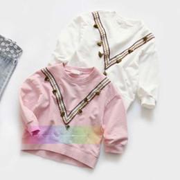 Wholesale Wholesale Chevron Shirts - Girls Tops Children T Shirts Girl Dress Kid Chevron Long Sleeve T Shirt 2016 Spring Autumn T-Shirt Child Clothes Kids Clothing Ciao C28833