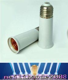 led t8 lichthalter Rabatt E27 bis E27 Fassung Glühbirne Lampenfassung Adapter Stecker Extender verlängern Verlängerung Lampenfassung feuerfestes Material 95mm Freies Verschiffen MYY
