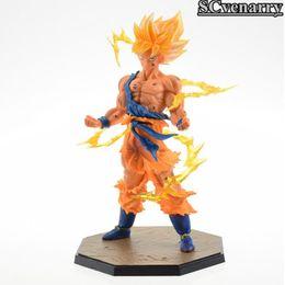 "Wholesale Fight Good - Anime Dragon Ball Z Figuarts Goku Figure Super Saiyan Son Gokou Goku Fighting Ver. Anime PVC Action Figures Model Toy 7"" 18CM"
