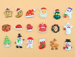 Wholesale Wholesale Flatback Resins - Christmas Flatback DIY Phone Case Cellphone Decorations Resin Craft Xmas Scrapbooking Girls Hair Bow Accessory Mixed color